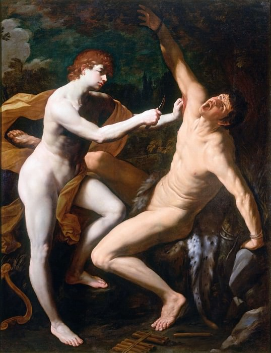 Apollo Flaying Marsyas. Guido Reni