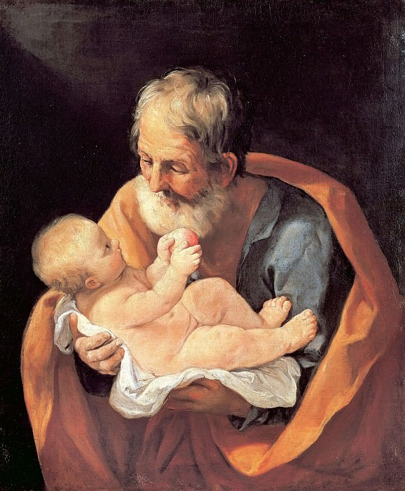 St Giuseppe and the Christ Child. Guido Reni