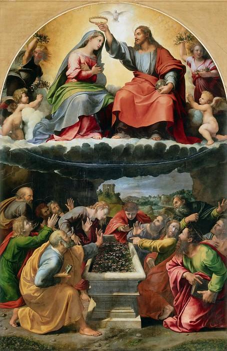 Коронование Девы Марии (Мадонна Монтелюче). Джулио Романо