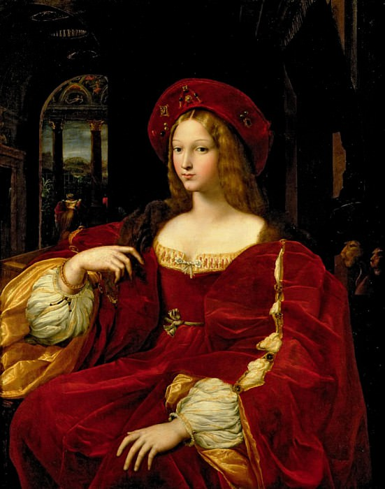 Portrait of Jeanne of Aragon (c.1500-77) wife of Ascannio Colonna, Viceroy of Naples. Giulio Romano