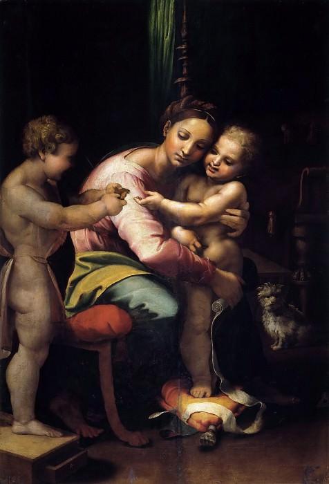 Madonna and Child with Saint John. Giulio Romano