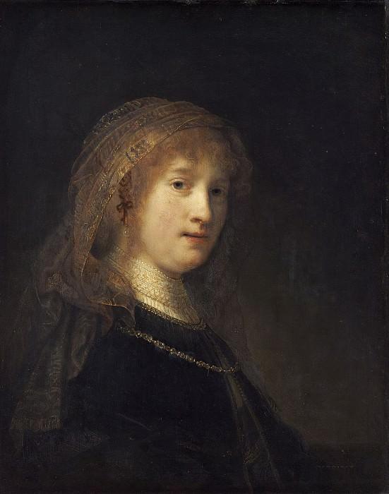 Saskia van Uylenburgh, the Wife of the Artist. Rembrandt Harmenszoon Van Rijn