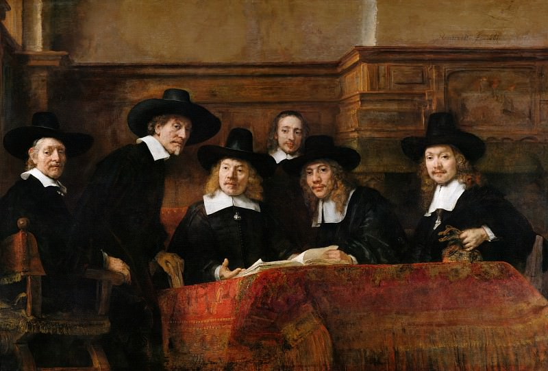The Syndics. Rembrandt Harmenszoon Van Rijn