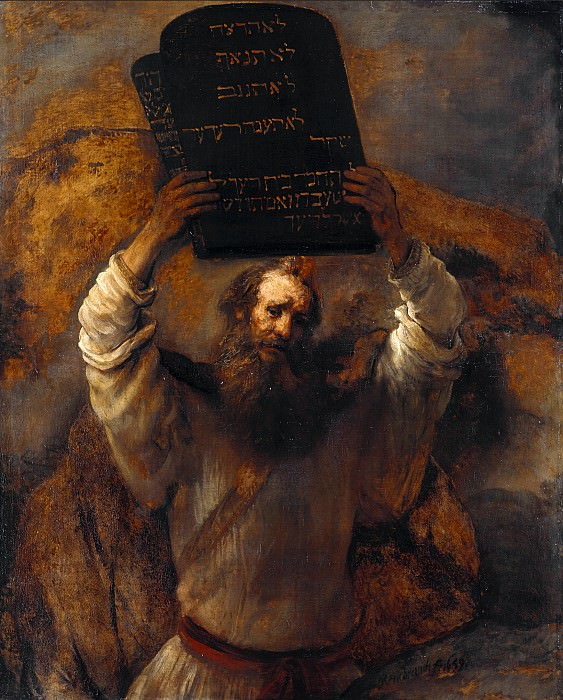 Moses with the Ten Commandments. Rembrandt Harmenszoon Van Rijn