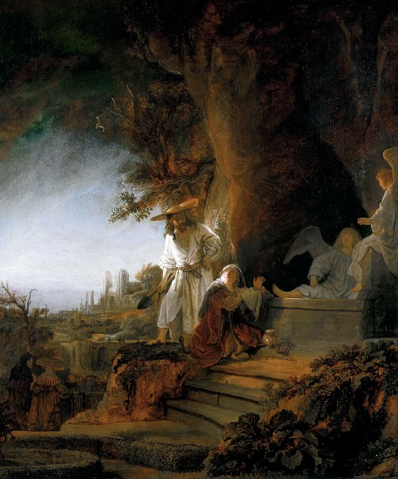 Christ Appearing To Mary Magdalen. Rembrandt Harmenszoon Van Rijn