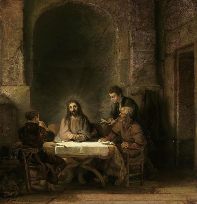 Supper at Emmaus. Rembrandt Harmenszoon Van Rijn