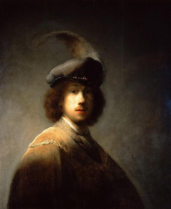 Self-Portrait, Aged 23. Rembrandt Harmenszoon Van Rijn