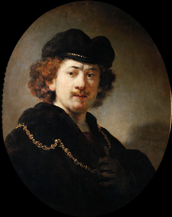 Self-Portrait with a Gold Chain. Rembrandt Harmenszoon Van Rijn
