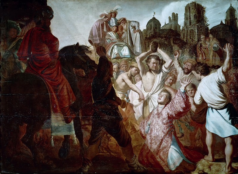 The Stoning of St. Stephen. Rembrandt Harmenszoon Van Rijn