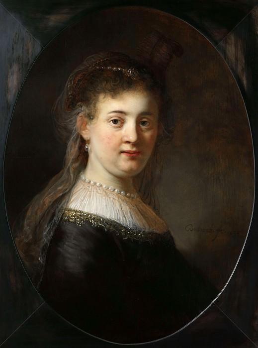 Jonge vrouw in gefantaseerde kleding. Rembrandt Harmenszoon Van Rijn