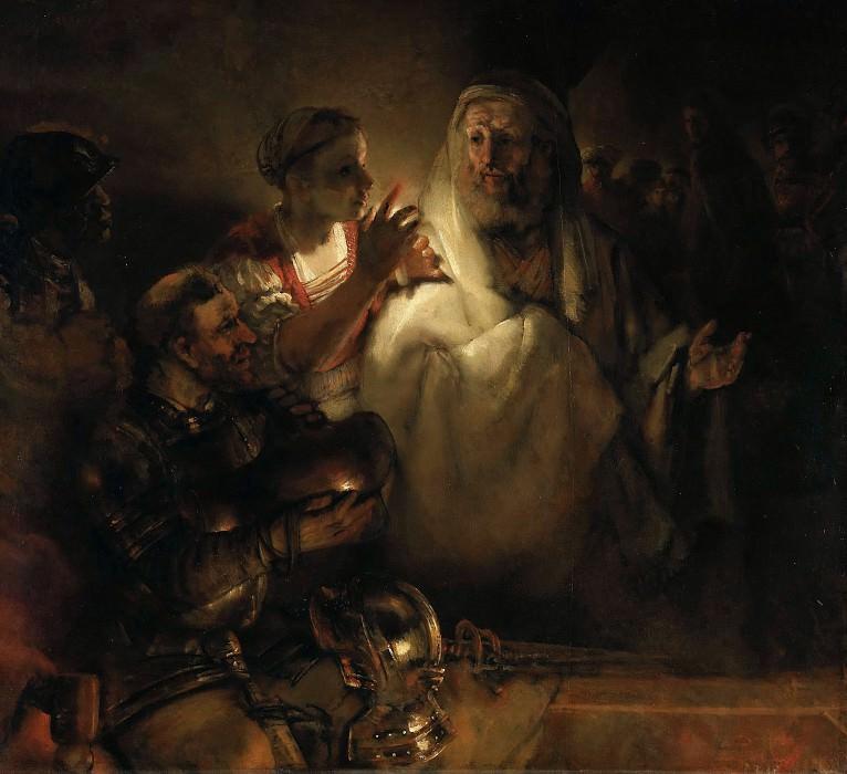 Peter Denouncing Christ. Rembrandt Harmenszoon Van Rijn
