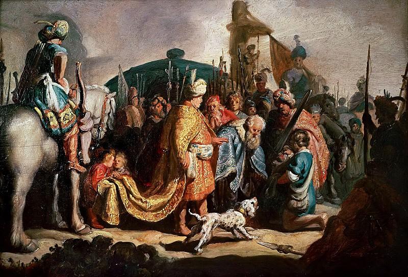 Давид с головой Голиафа перед Саулом. Рембрандт Харменс ван Рейн