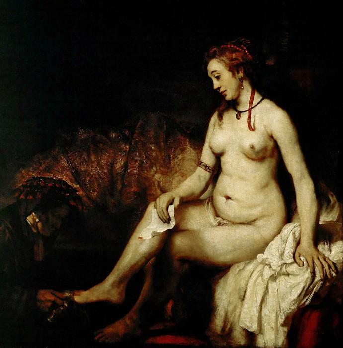 Вирсавия в купальне. Рембрандт Харменс ван Рейн