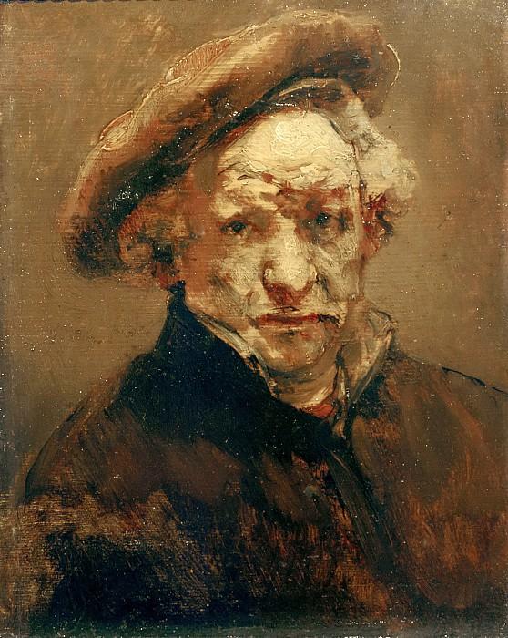 Selfportrait, study. Rembrandt Harmenszoon Van Rijn