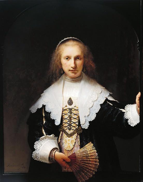 Agatha Bas (1611-58). Rembrandt Harmenszoon Van Rijn