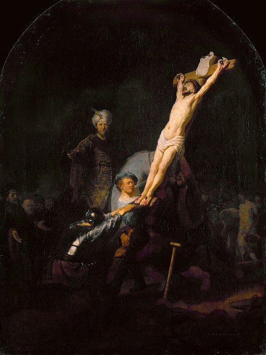 The Raising of the cross. Rembrandt Harmenszoon Van Rijn