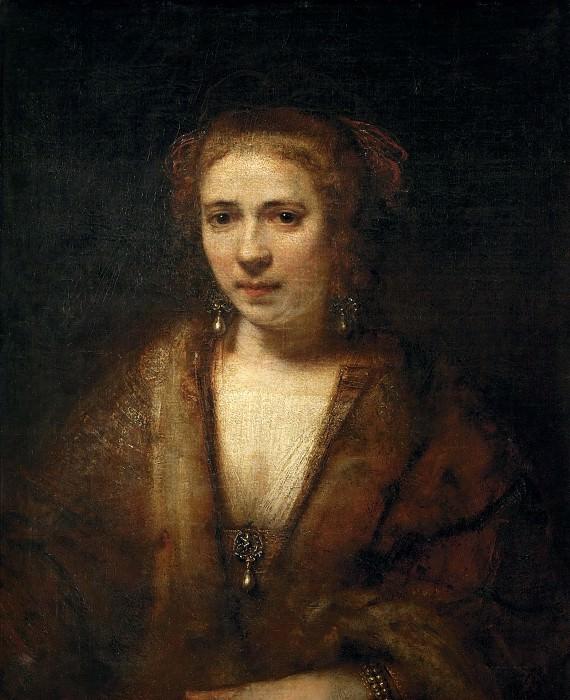 Portrait of Hendrickje Stoffels (attr.). Rembrandt Harmenszoon Van Rijn