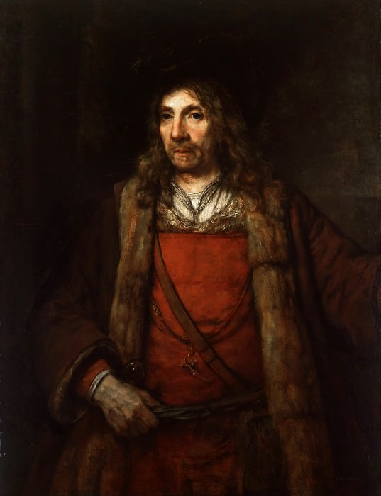 Man in a Fur-lined Coat. Rembrandt Harmenszoon Van Rijn