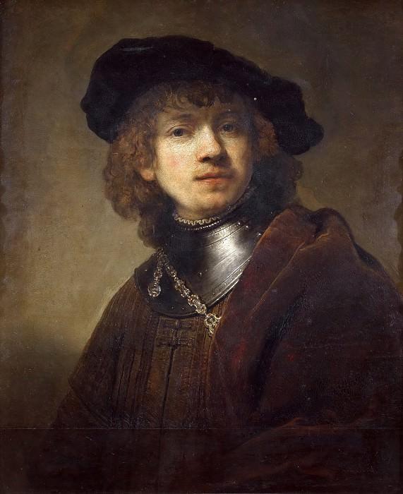 Self-portrait (attr). Rembrandt Harmenszoon Van Rijn