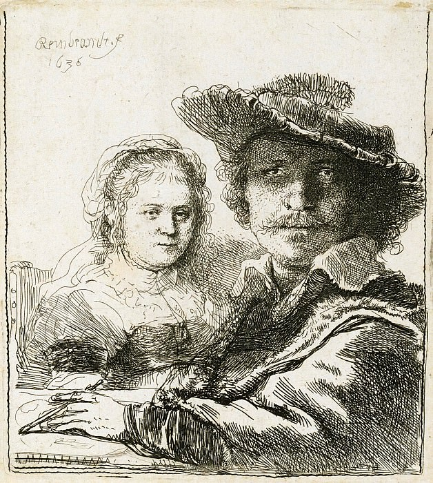 Rembrandt and His Wife Saskia. Rembrandt Harmenszoon Van Rijn