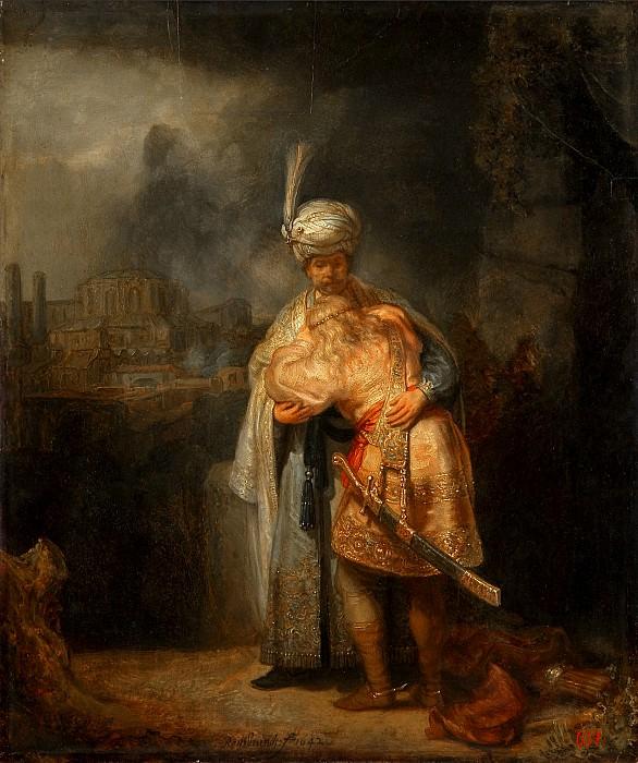 David and Jonathan. Rembrandt Harmenszoon Van Rijn