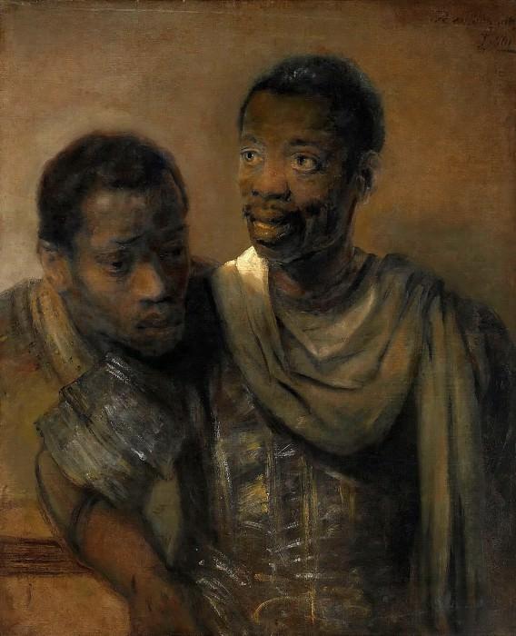 Two Negroes. Rembrandt Harmenszoon Van Rijn