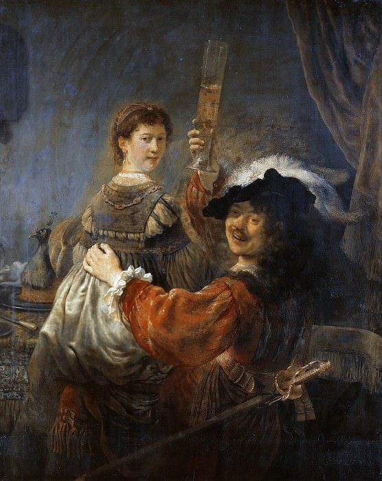 Rembrandt and Saskia in the Scene of the Prodigal Son. Rembrandt Harmenszoon Van Rijn