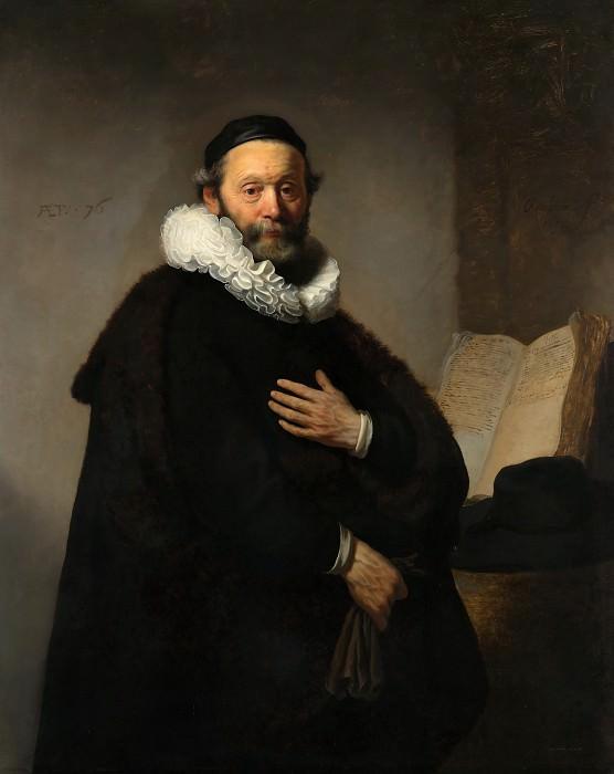 Portrait of Johannes Wtenbogaert. Rembrandt Harmenszoon Van Rijn