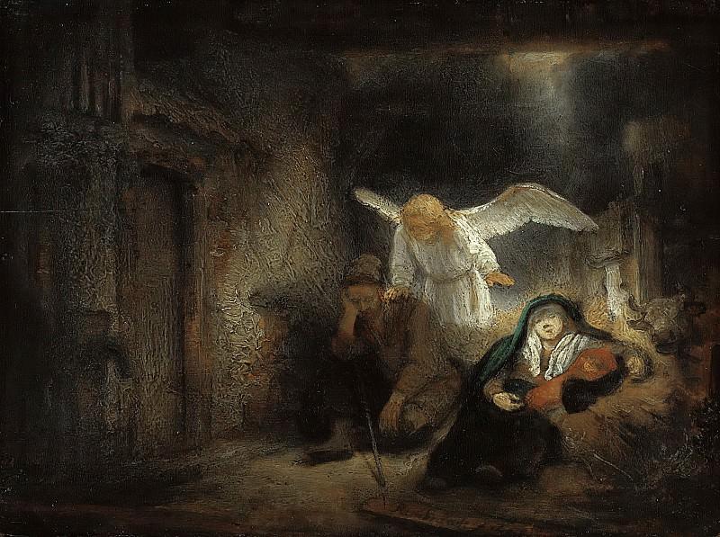 St. Josephs Dream. Rembrandt Harmenszoon Van Rijn