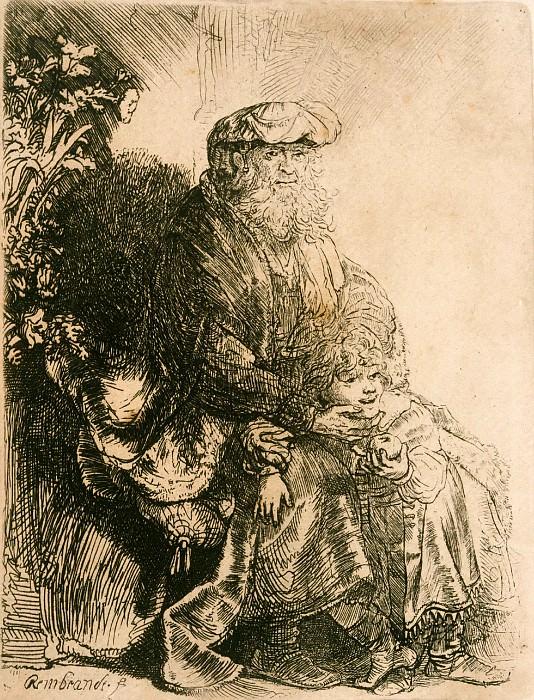 Jacob and Benjamin. Rembrandt Harmenszoon Van Rijn