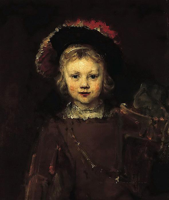 Portrait of Titus (attr). Rembrandt Harmenszoon Van Rijn