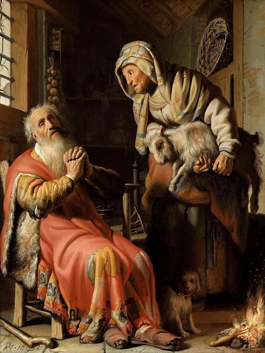 Tobit en Anna met het bokje. Rembrandt Harmenszoon Van Rijn