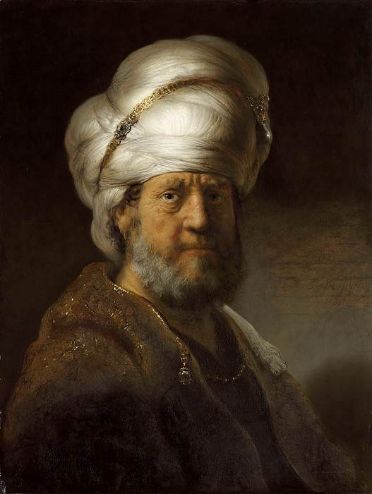 Portrait of a Man in an Oriental Costume. Rembrandt Harmenszoon Van Rijn