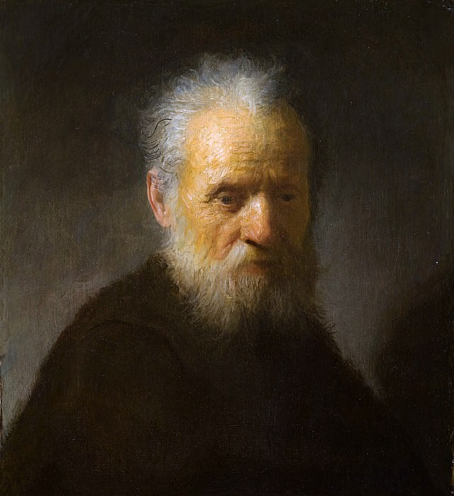 An old man with beard. Rembrandt Harmenszoon Van Rijn