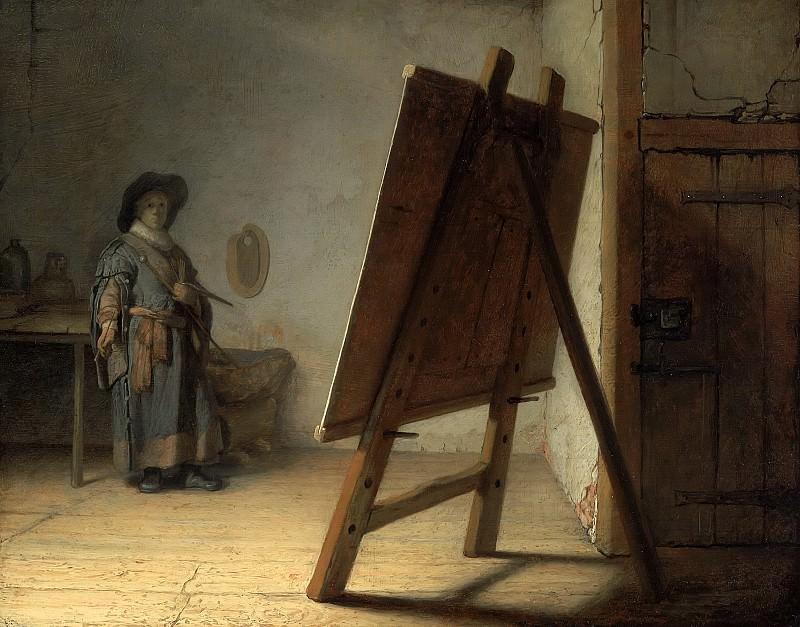 Artist in his studio. Rembrandt Harmenszoon Van Rijn