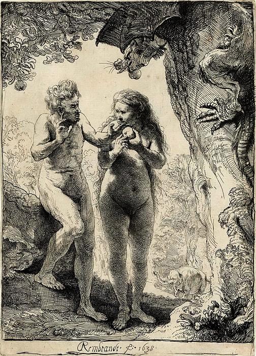 Adam and Eve. Rembrandt Harmenszoon Van Rijn