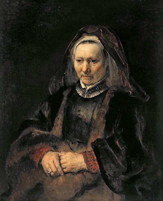 Portrait of an Elderly Woman. Rembrandt Harmenszoon Van Rijn