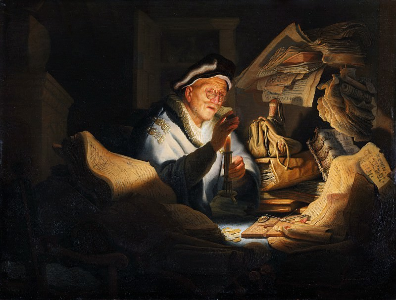 The rich man from the parable. Rembrandt Harmenszoon Van Rijn