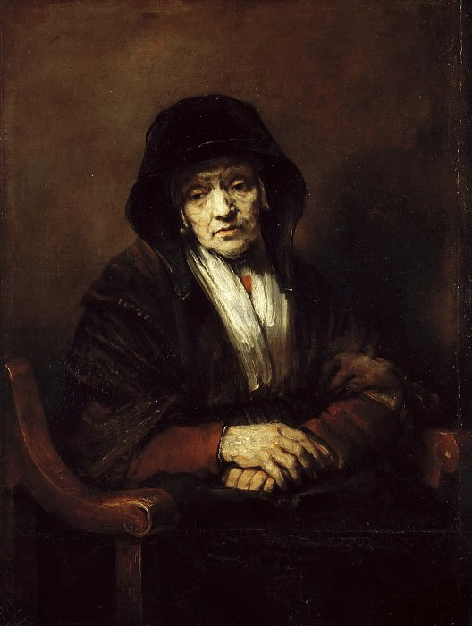 Portrait of an Old Woman (attr). Rembrandt Harmenszoon Van Rijn