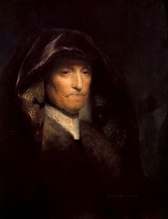 Portrait of the Artists Mother. Rembrandt Harmenszoon Van Rijn