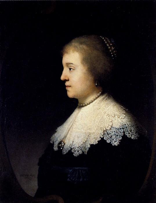 Portrait of Princess Amalia van Solms. Rembrandt Harmenszoon Van Rijn
