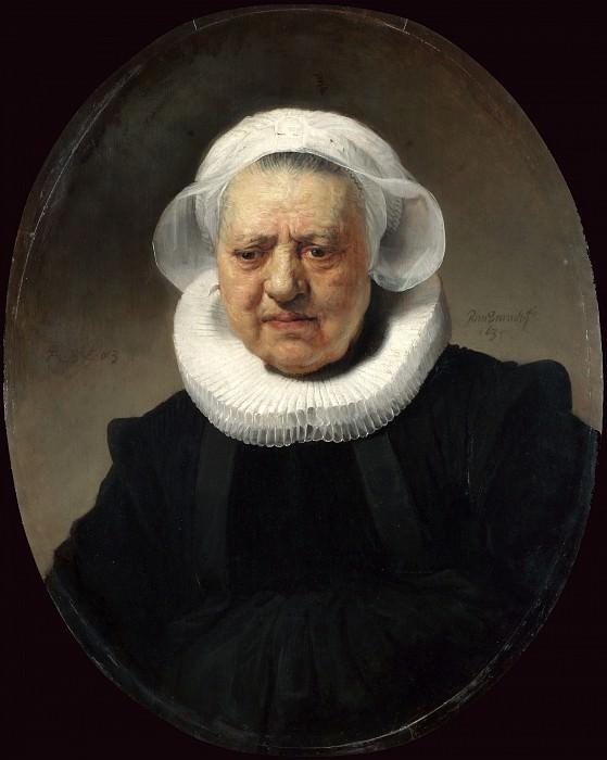Portrait of Aechje Claesdr. Rembrandt Harmenszoon Van Rijn