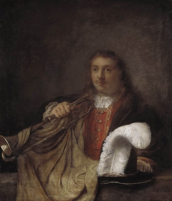 Trumpeter. Rembrandt Harmenszoon Van Rijn (Manner of)