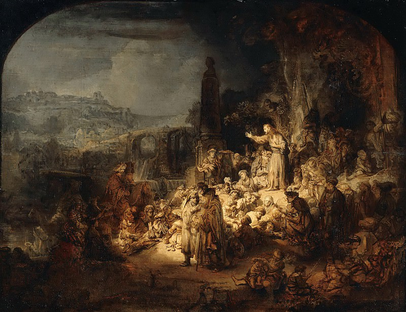 Rembrandt (1606-1669) - The preaching of John the Baptist. Part 4