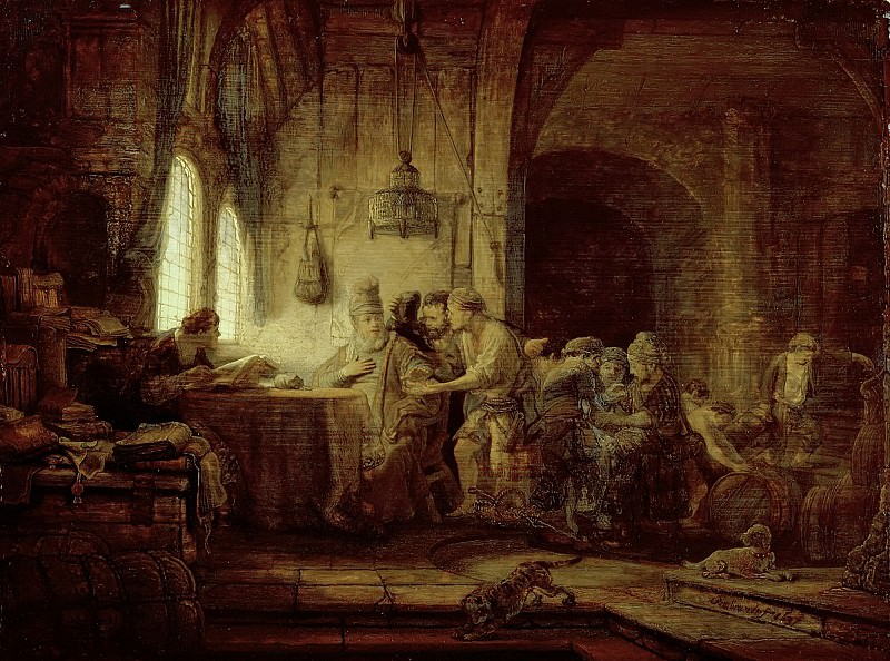 The Parable of the Laborers in the Vineyard. Rembrandt Harmenszoon Van Rijn