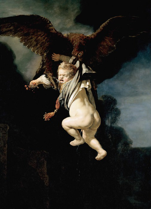 The Abduction of Ganymede. Rembrandt Harmenszoon Van Rijn