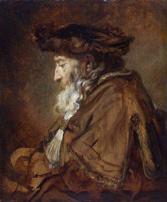 Portrait of an Old Man (Rabbi). Rembrandt Harmenszoon Van Rijn (attr.)