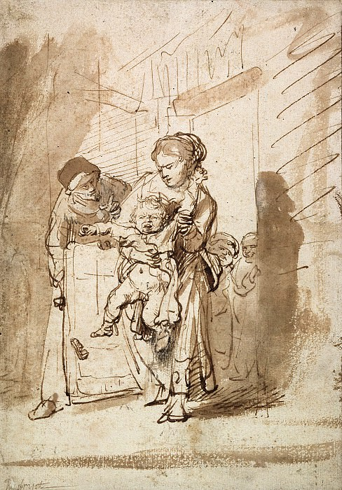 The Unruly child. Rembrandt Harmenszoon Van Rijn