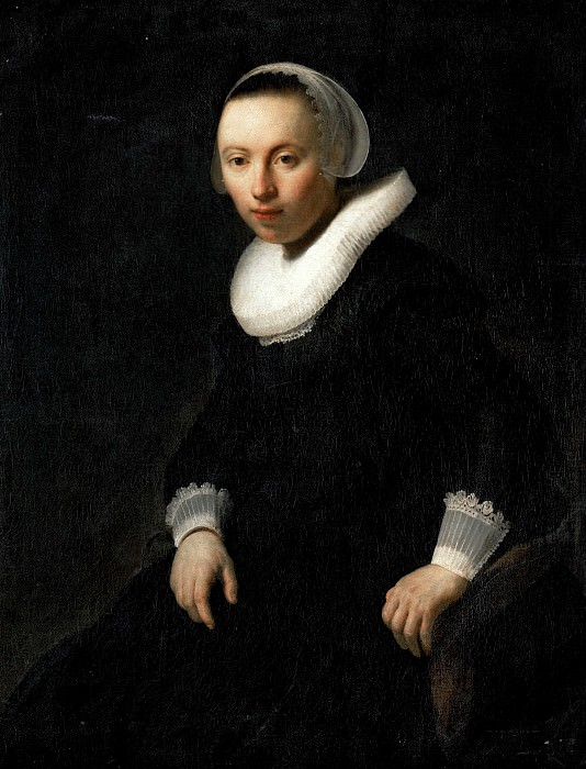 Portrait of a Young Woman Seated. Rembrandt Harmenszoon Van Rijn