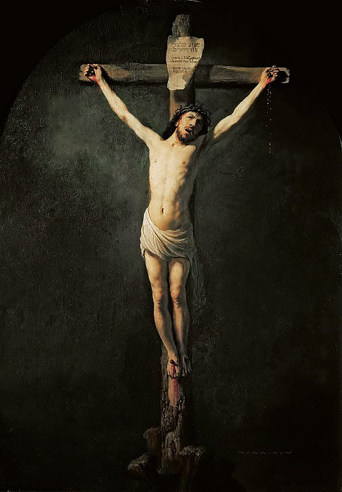 Christ on the cross. Rembrandt Harmenszoon Van Rijn